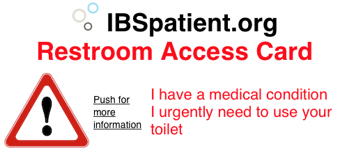 IBSpatient.org Restroom Access Card back